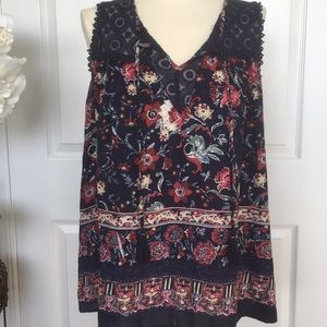 KNOX ROSE FLORAL SLEEVELESS TOP